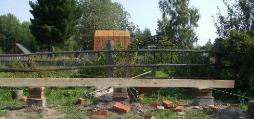 Столбчатый фундамент под деревянный дом