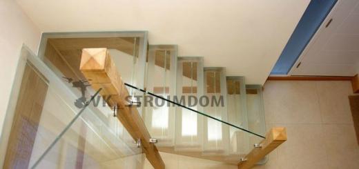 Выбор ограждения для прямой лестницы