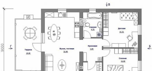 Проект одноэтажного загородного дома «Бюджетный-1? — простота со вкусом