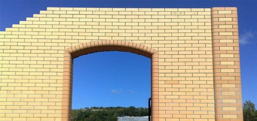 Кирпичная арка своими руками