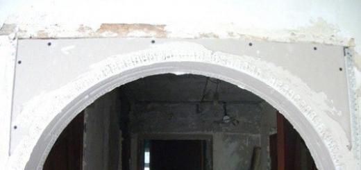 Межкомнатная арка из гипсокартона своими руками