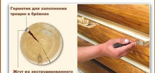 СОВЕТ: Чем заделать трещины в бревне или брусе?