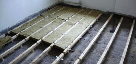 Утепление пола на первом этаже в доме (над подвалом) или квартире самостоятельно